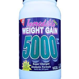 INCREDIBLE WEIGHT GAIN 5000 VANILA 4LB