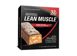 LEAN MUSCLE PEANUT B CHOC CRUNCH 90 GM-DETOUR